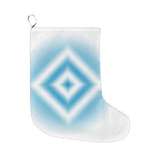 Meia De Natal Grande inclinação azul do diamante do Personalizar-céu