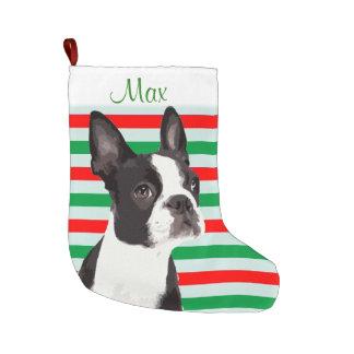 Meia De Natal Grande Meia do animal de estimação do Natal de Boston