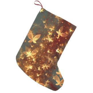 Meia De Natal Pequena borboletas abstratas do fractal do design