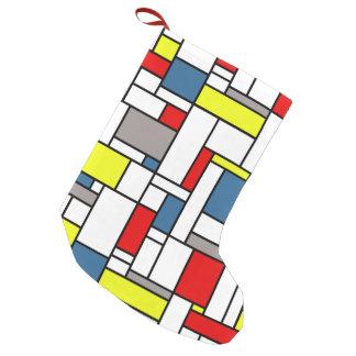 Meia De Natal Pequena Design do estilo de Mondrian