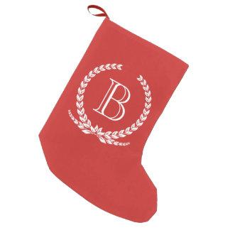 Meia De Natal Pequena Design do monograma