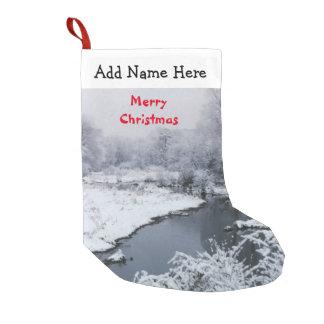 Meia De Natal Pequena Estoque do Feliz Natal da angra da neve do inverno