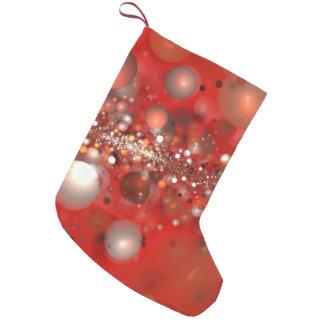 Meia De Natal Pequena fractal abstrato do vermelho do design