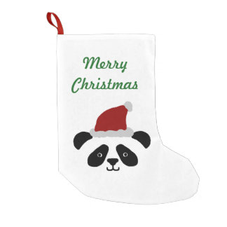 Meia De Natal Pequena Meia do Natal da panda