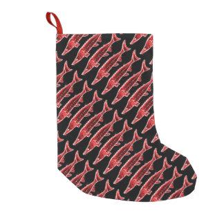 Meia De Natal Pequena preto vermelho dos esturjões