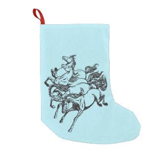 Meia De Natal Pequena quatro cavalos