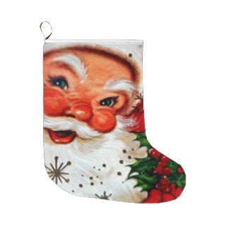 Meia do Natal de Papai Noel do vintage Meia De Natal Grande