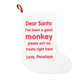 Meia do Natal do macaco de Penélope boa Bota De Natal Pequena