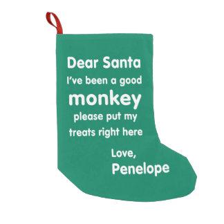 Meia do Natal do macaco de Penélope boa Meia De Natal Pequena