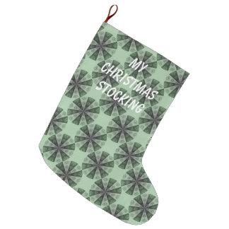 Meia do Natal pelo verde do costume de Janz 12x20 Bota De Natal Grande