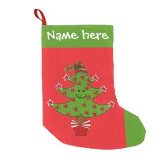 Meia lunática do Natal da árvore da baga Bota De Natal Pequena