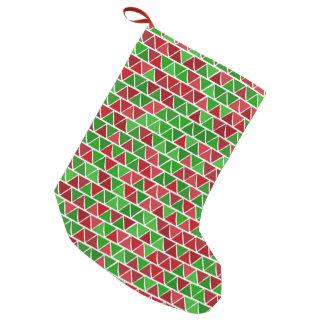 Meia vermelha verde do Natal Bota De Natal Pequena