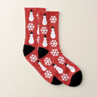Meias Flocos de neve & bonecos de neve do Natal