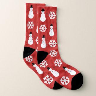 Meias Flocos de neve & bonecos de neve do Natal grandes