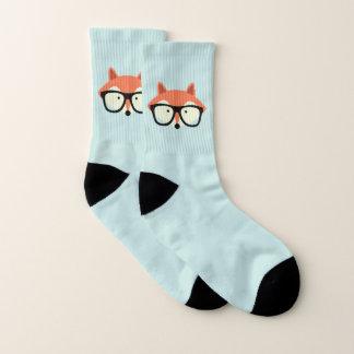Meias Fox vermelho do hipster
