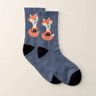 Meias Fox vermelho do hipster do Monocle