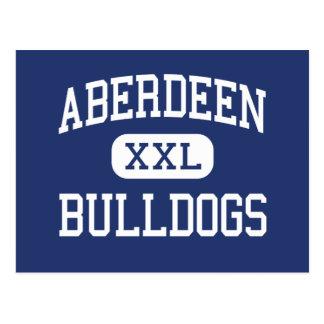 Meio Aberdeen dos buldogues de Aberdeen Cartão Postal