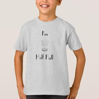 Meio cheio camisetas