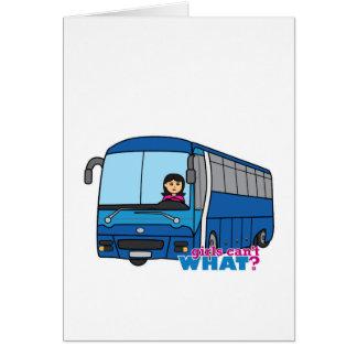 Meio do condutor de autocarro cartao