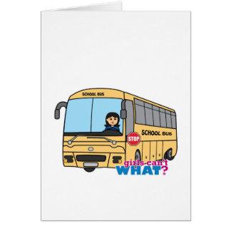 Meio do motorista de auto escolar cartão