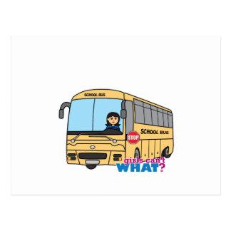 Meio do motorista de auto escolar cartoes postais