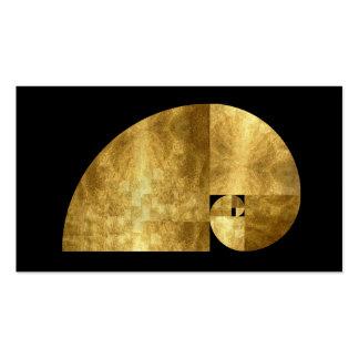Meio dourado, imagem da folha de ouro cartão de visita