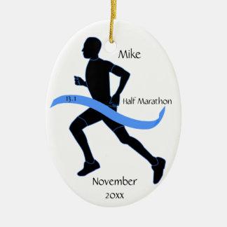 Meio ornamento do corredor de maratona - homem