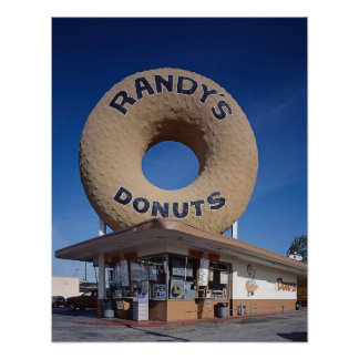 Meio século de Califórnia das rosquinhas de Randy Poster