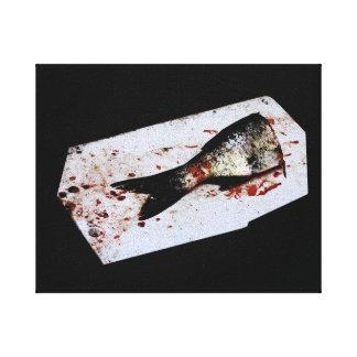 Meios peixes impressão em canvas
