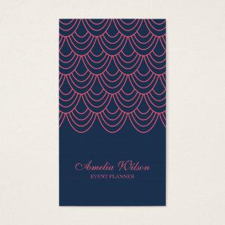Meios sociais geométricos azuis do rosa à moda do cartão de visitas