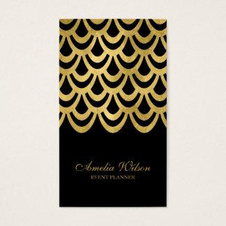 Meios sociais geométricos pretos elegantes do cartão de visitas