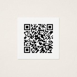 Meios sociais mínimos do código de QR modernos Cartão De Visitas Quadrado