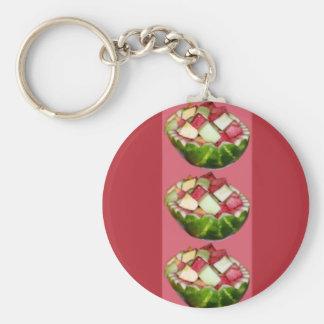 Melancia brilhante da salada de fruta | do verão chaveiro