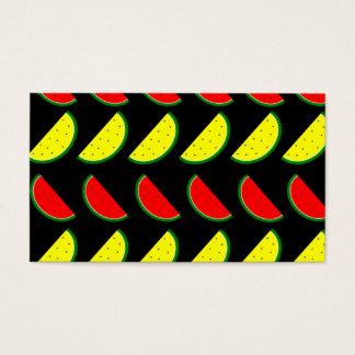 Melancia colorida cartão de visita