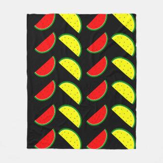 Melancia colorida cobertor de lã