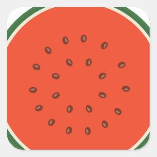 melancia para dentro adesivo quadrado