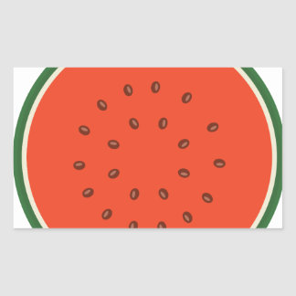 melancia para dentro adesivo retangular