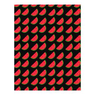 Melancias brilhantes do piquenique do verão no flyer 21.59 x 27.94cm
