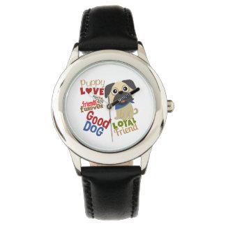 Melhor amigo do cão do Pug Relógios De Pulso