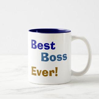 Melhor, chefe, nunca! caneca de café em dois tons