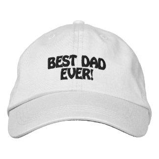 Melhor pai personalizado do chapéu ajustável nunca bones bordados