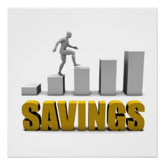 Melhore seu economias ou processo de negócio como poster perfeito