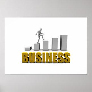 Melhore seu negócio ou processo de negócio como poster