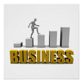 Melhore seu negócio ou processo de negócio como poster perfeito