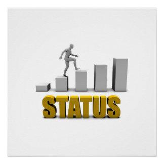 Melhore seu processo do estado ou de negócio como poster perfeito