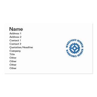 Membro da mão-de-obra cartão de visita