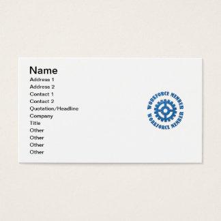 Membro da mão-de-obra cartão de visitas