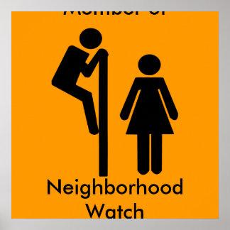 Membro engraçado de posters da segurança da vigilâ