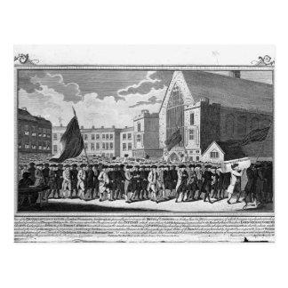 Membros da associação do protestante cartão postal