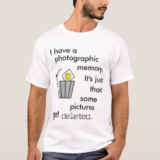 Memória fotográfica camiseta